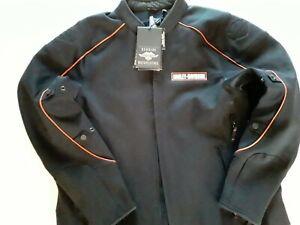 Harley-Davidson Mens Manitowoc  Reflective Riding Black Jacket 98156-18VM