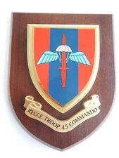 45 Commando Recce Troop Royal Marines Military Shield Wall Plaque