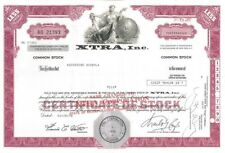 XTRA Inc > 1978 old stock certificate share
