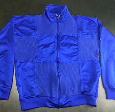 Vintage Mens M 80s Slazenger Zip-Up Blue Track Jacket Coat