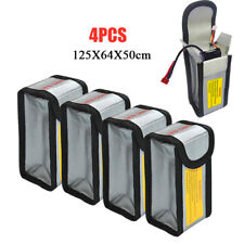 4pcs Lipo Battery Fireproof Explosion proof Bag Storage Guard Safe Pouch 125mm