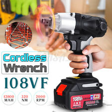 320NM 1/2'' Electric Cordless Impact Wrench Drill 12800mAh Battery Charger USA