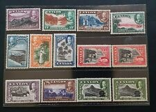CEYLON 1935 KG V 2c to R1 SG 368 - 378 Sc 264 - 274 pictorial set 11 + 2 MNH