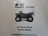 1986 1987 Kawasaki KLF300 All Terrain Vehicle Service Repair Shop Manual FACTORY