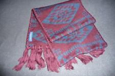 PENDLETON for UO Men's Wool Blend Fringed Scarf ~ Basket Maker Maroon Blue