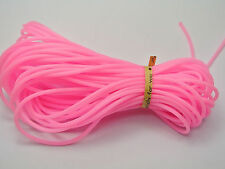 10 Meter Pink 2mm Soft Hollow Rubber Tubing Jewelry Cord Cover Memory Wire
