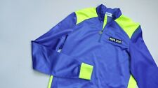 PEARL iZUMi Thermal Cycling Jersey Shirt men top size L Large blue BIKE WEAR