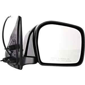 Fits 00-04  Tacoma Right Passenger Mirror Power Non-Painted Black Folding