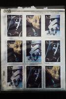St. Vincent & The Grenadines Star Wars Stamp Block of 9