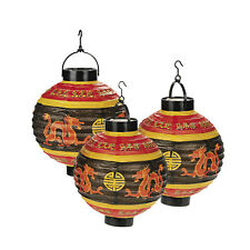 3 Light-Up Chinese Lanterns Decoration Home Office New Year Wedding Asian Party
