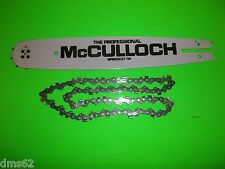 "BAR & CHAIN  COMBO McCULLOCH  12""  SPROCKET NOSE BAR 3/8 050 44L  222987-X BLACK"