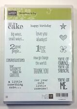 Stampin' Up! Something To Say Clear Mount Stamp Birthday Baby Love Courage