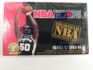 1993-94 NBA Hoops Series 2 Basketball Cards Full Sealed Box x36 packs UK Jordan?