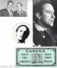 Pierre Elliott Trudeau Bill Vander Zalm 1968 Card Sticker $ Sticker Advertise BC