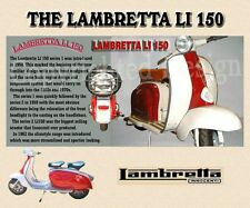 LAMBRETTA LI 150 SCOOTER MOUSE MAT LIMITED EDITION DESIGN. ADD YOUR OWN PHOTO