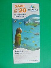 SEAWORLD SAN DIEGO $20.00 Off 1 Day Pass Adult $14.00 Child Up To 6 People