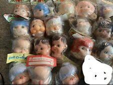 18 Vintage Darice and other Craft Doll Vinyl Yarn Heads clown Santa