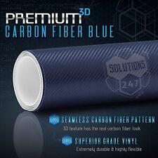 """60""""x72"""" In Vinyl Wrap Bubble Free Air Release - 3D Blue Carbon Fiber Matte Roll"""