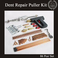 86Pcs/ Set Dent Repair Puller Kit Mini Welding Machine Clamp Hammer Removal Tool