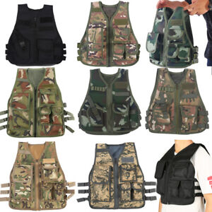 Children Kids Tactical Vest Protective Waistcoat For CS Outdoor Hunting Game❤VV