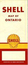 1959 Shell Road Map: Ontario NOS