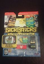 New Sick Bricks Set 8 Pieces Scan To Play Mix & Match Spin Master