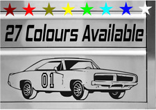 """DODGE CHARGER GENERAL LEE DUKES OF HAZZARD TOOLBOX STYLE DECAL STICKER 25CM-10"""""""