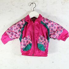 Vintage Infant Girl's Windbreaker 6 Months Pink Ruffles