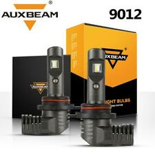 AUXBEAM 9012 HIR2 60W 7600LM LED Headlight Bulbs Kit 6000K White High/Low Beam