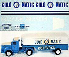 Scania COLD MATIC Knud Hansen Hellrup (DK) 1:43 Decalcomania