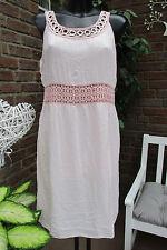 été robe à bretelles IBIZA rose crochet paillettes extra-large Mignon 40-42-44