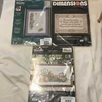 Bucilla & Dimensions Counted Cross Stitch Kits Garden Beautiful Things