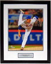 NOAH SYNDERGAARD AUTOGRAPHED METS 16X20 PHOTO FANATICS MLB COA FRAMED & PLATE