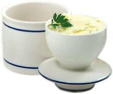 Ceramic Butter Dish Keeper Crock Porcelain French Bell Glazed Marble Storage