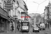 PHOTO  1997 BELGIUM GENT TRAM KORTRIJKSEPOORTSTRAAT TRAM NO 41 ON ROUTE NO 10