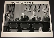 """RARE """"WHO, WHAT OR WHERE"""" GAME SHOW TV HOST GUEST DAY + PRODUCER SIGNED + COA!"""