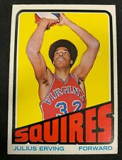1972-73 TOPPS BASKETBALL RC ROOKIE CARD *JULIUS ERVING #195* VG-EX RANGE BV $200