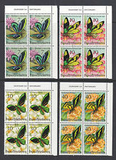 PNG: 1975 BUTTERFLIES   IN  IMPRINT BLOCKS OF 4  CTO AND SCARCE!!!