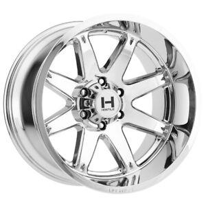 "Hostile H109 Alpha 20x10 5x5.5"" -19mm Chrome Wheel Rim 20"" Inch"
