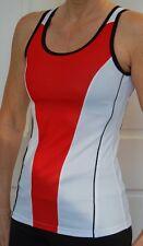 AUS DESIGN JIVANA WOMEN CYCLING SLEEVELESS BIKE RUN JERSEY TOP RED  XS S M L XL