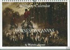 Birthday calendar with horse images by M. Coward