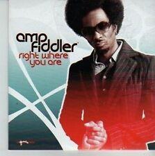 (CV476) Amp Fiddler, Right Where You Are - 2006 DJ CD