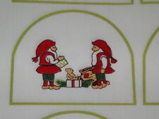 1 fabric panel with 18 Grab-it pieces - CHRISTMAS ELVES & CANDLES