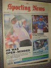 """June 29 1987 """"The Sporting News"""" US Open Champ Scott Simpson, Bob Horner, NASCAR"""