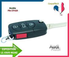 Coque Télécommande Plip 3 Boutons + PANIC, Audi A1 A3 A4 A5 A6 A8 TT Q7 + Clé