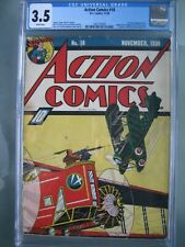 Action Comics #18 CGC 3.5 WP 1939 Origin & 1st app Three Aces