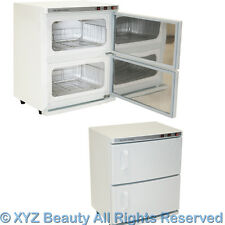 White 2 Cabinet Hot Towel Warmer UV Sanitizer Sterilizer Beauty Salon Equipment