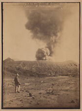 Photo ancienne albumine Java Indonésie Volcan Bromo O Kurkdjian Photographe rare