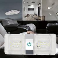 12V 48 LED RV Caravan Trailer Boat Interior Roof Ceiling Double Dome Light White