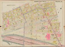 1908 JERSEY CITY, HUDSON COUNTY, NEW JERSEY, PACIFIC AVE. STATION COPY ATLAS MAP